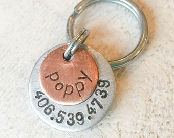Seeking personalized gifts for dogs and dog lovers? Our pet id tags are made in Bozeman, Montana. Poppy Tag