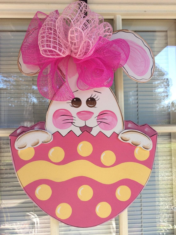 Easter Bunny Door Hanger 3d Rabbit Designed By By