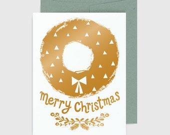 Holiday Card - Merry Christmas Wreath