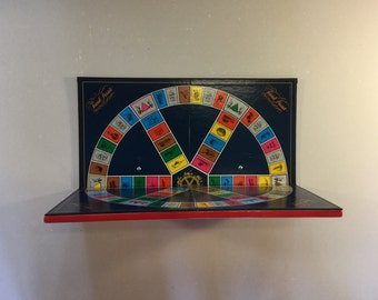 Upcycled Trivial Pursuit Boardgame Shelf