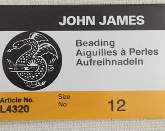 John James Beading Needles Size 12