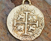 Spanish 4 Reale in Bronze, 30mm or 1.25 Inches,  D314