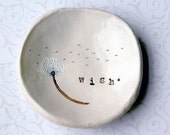 Catch All Dish: Personalized Bowl, Ring Dish, Wish Bowl, Dandelion Art, Birthday Gifts for Mom