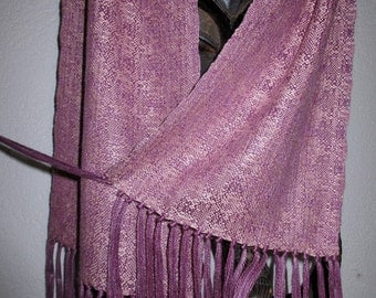 Handwoven Naturally Dyed Silk Scarf