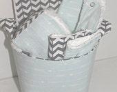 Blue Arrow Baby Gift Basket--- Baby Shower, New Mom, Nursery Decor, Organization