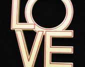 Vintage LOVE Sign 1970's Pop Art Wall Art