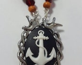 Anchor Nautical Beaded Necklace