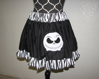 Jack Skellington inspired Cosplay Skirt, Comic Con, Geek, Nerd, Halloween, FUN