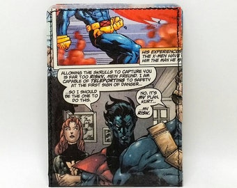 Sewn Comic Book Wallet - X-Men - Cyclops, Nightcrawler and Phoenix