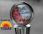 Custom Vintage Map Wine Stopper - You Pick City - Wanderlust - Travel - Bridesmaid Gift - As Seen on the Today Show