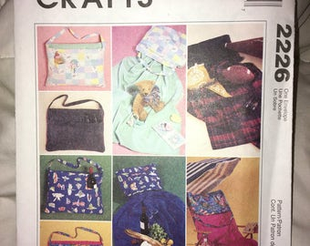 Uncut New MCCALL'S Crafts Tote with Blanket or Towel Sewing Pattern 2226 (year 1999) - 3Pieces YMA47R