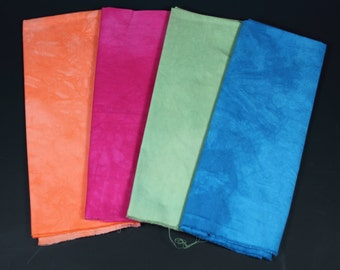 hand dyed fabric - 4 fat quarters - combo #7