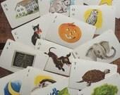 Vintage Whitman Alphabet Letter Flash Cards - Set of 8