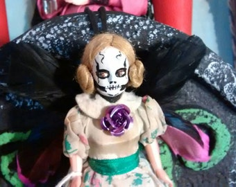 Lisette the Gothic Horror Faerie repurposed altered Art Doll