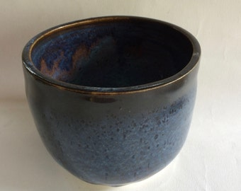 handmade pottery/ ceramic blue bowl for/ dips/ sauces or other storage ideas/ stoneware  J6