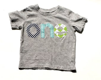 o n e //First Birthday//Fabric Iron On Applique Letters//Other Numbers Available