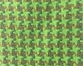 St. Andrews Woollen Mill Tweed Wool Yardage in Shades Green New Old Stock from Scotland Mid Century 3/4