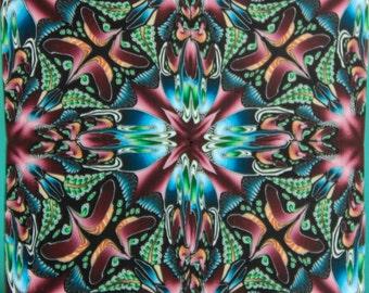 JUMBO Polymer Clay Square Kaleidoscope Cane -'Dark Eden' (1D)