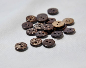 "50pcs+ 10mm/0.394"" Mini Coconut Shell Buttons"