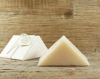 Plain Jane Soap | Unscented Soap, Natural Soap, Fragrance Free Soap, Sensitive Skin, Skin Care, Face Soap, Ergonomic Triangle Soap