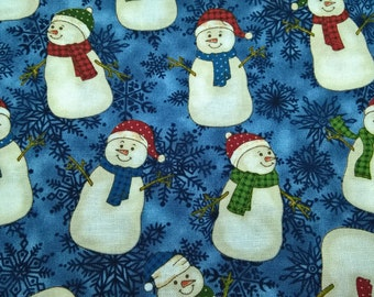 Smiley Snowmen - fat quarter