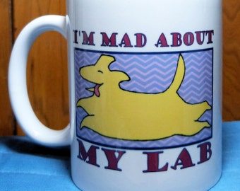 Lab Mug, Labrador Retriever, Yellow Lab, Coffee Cup, Yellow Lab Mug, Labrador Retriever Gift, Girlfriend Gift, BFF Gift, Coworker Gift