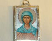 St Monica Pendant Mother of Augustine inv1681