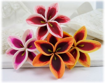 Stargazer Lily Hair Flowers - Tiger Lily Hair Clip Pins