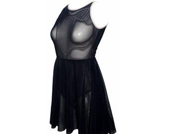 Dress lingerie  in black See Through underwear