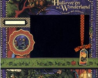 Halloween in Wonderland - 12x12 Premade Scrapbook Page