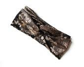 Turban Headband // Turband // Black and Gold Foil Floral