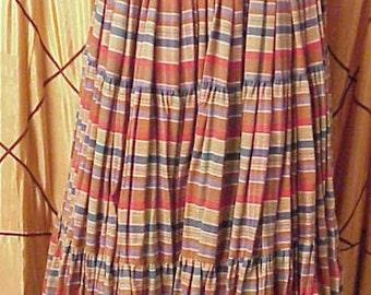 1800s Vintage Deluxe Reproduction Prairie Skirt Steam Punk