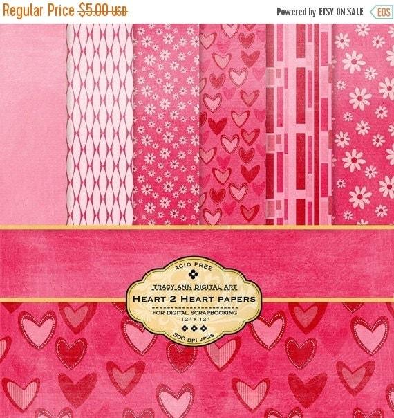 Heart 2 Heart Digital  Scrapbook Papers