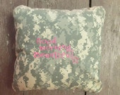 "Army, Navy, Air Force, Marines Military Pillow, ""Good morning Beautiful"" pillow cover, Military Wife gifts, Military gifts"