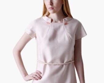 ON SALE SALE - Vintage 60s Pink A-Line Dress