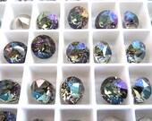 6 Dark Celadon Swarovski Crystal Chaton  Stone 1088 39ss 8mm