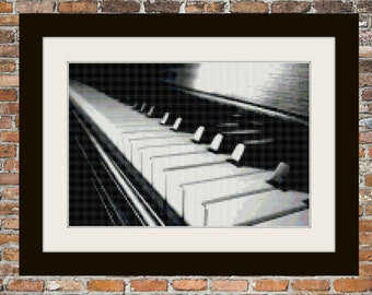 Piano Keys - a Counted Cross Stitch Pattern