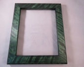 8x10 Flaming White Birch Picture Frame Green dye
