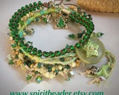 Tri Tropical Frog Bliss Stackable Bracelet Set of Three