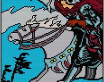 Knight of Swords - Tarot cross stitch pattern PDF