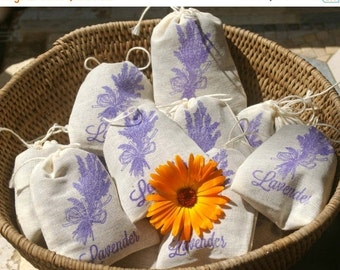 ALOHA SALE.... Lavender Sachets - 6 pack, Shower Favor, Wedding Favor, Teacher Gift, Hostess Gift, Thank You, Party Favor, Lavender Sachet,
