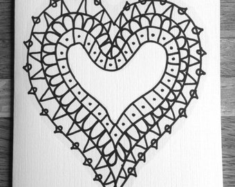Coloring cards for kids-Heart