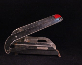 Vintage Red Wooden Handle French Fry Cutter