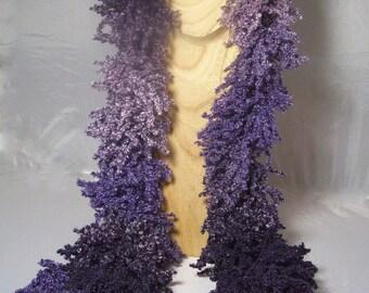 """Echarpe """"Boa"""" violette"""