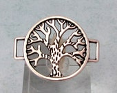 Tree Of Life Connector, Antique Silver, AS417
