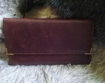 Vintage Unused Burgundy Leather Princess Gardner Wallet