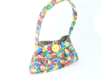 baby girl presents. cute polka dot toy toddler girl crayon bag. very hungry caterpillar twin first birthday purse. rainbow