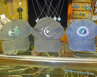 Grateful Dead Hats -   Jerry Moon  Terrapin   Baseball Cap   hippie SYF   Deadhead