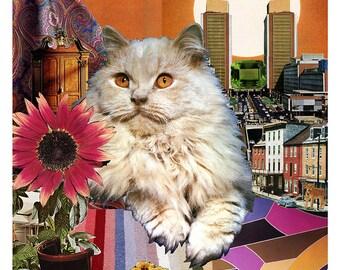 Leo - StarCat - Zodiac Astrology Art Print - Cat Lover gift, gift for Leo, July August birthday