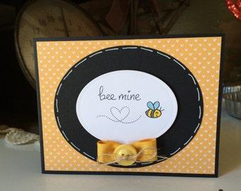 Yellow Bee Mine Card